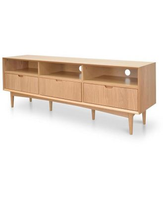 Johansen Scandinavian 180cm TV Entertainment Unit With 3 Drawers - Natural by Interior Secrets - AfterPay Available