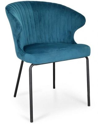 Kayla Dining Chair - Turquoise Velvet by Interior Secrets - AfterPay Available