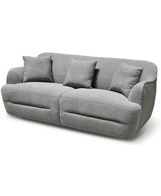 Lester 3 Seater Fabric Sofa - Grey by Interior Secrets - AfterPay Available