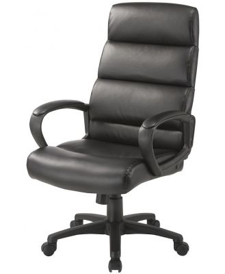 Markus High Back Office Chair - Black by Interior Secrets - AfterPay Available