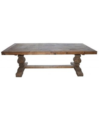 Carved Natural Leg Dining Table 300cm