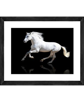 Black Gallop Photographic Print with Frame, 112cm x 170cm