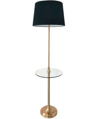 Carmody Floor Lamp with Side Table Black