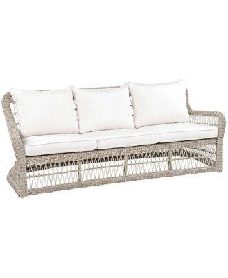Shell Cove Deep Seat Sofa Oyster, Charcoal Cushions