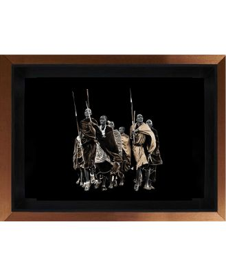 Africa Tribe Photographic Print on Perspex with Frame, 112cm x 170cm