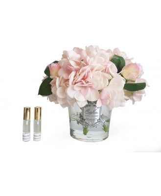 Cote Noire Hydrangeas And Rosebuds Blush