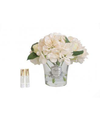 Cote Noire Hydrangeas and Rosebuds Champagne
