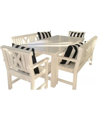 Sag Harbour Beach Indoor/Outdoor Dining Setting Various Options, 180cm - 6 Seat Setting
