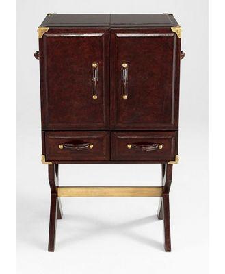 Brenton Bar Cabinet with Stand Dark