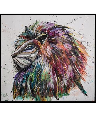 Lion King Canvas With Frame