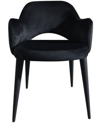 Maestro Dining Chair Black Velvet