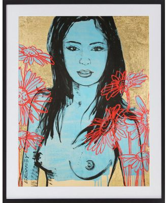 Mallory Limited Edition Print By David Bromley, Black