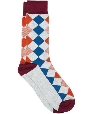 Johnny Bigg Argyle Fancy Sock Rust 8 11