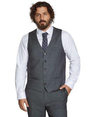 Johnny Bigg Axel Textured Stretch Waistcoat Charcoal 3 Xl