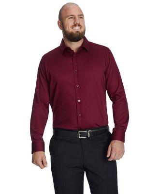 Johnny Bigg Bamboo Satin Stretch Shirt Burgundy 2 Xl