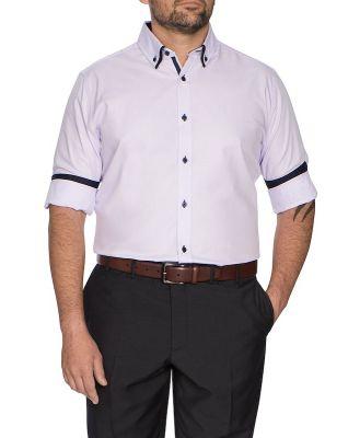 Johnny Bigg Bowery Mini Check Shirt Lilac Xl