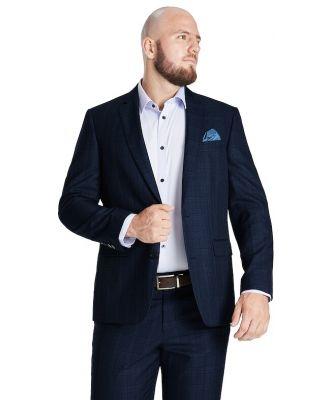 Johnny Bigg Charles Check 2 B Suit Jacket Blue 50