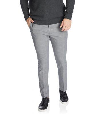 Johnny Bigg Chaz Check Stretch Smart Trouser Grey 40
