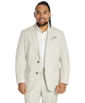 Johnny Bigg Cruz Linen 2 Button Suit Jacket Stone 44