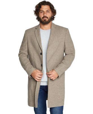 Johnny Bigg Davis Textured Wool Coat Beige 4 Xl