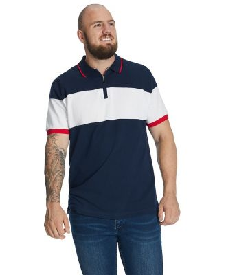Johnny Bigg Heritage Zip Polo Navy 2 Xlt