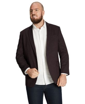 Johnny Bigg Iconic Stretch Blazer Burgundy Xlt