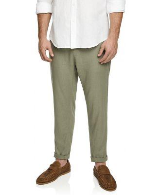 Johnny Bigg Jamie Linen Blend Pants Sage 42