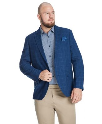 Johnny Bigg Reggie Check Stretch Blazer Blue 3 Xlt