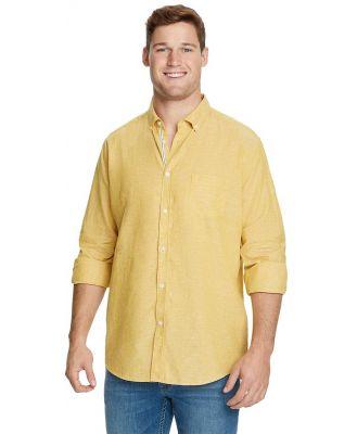 Johnny Bigg Serge Melange Linen Shirt Gold 8 Xl
