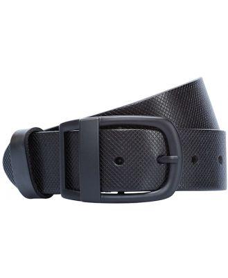 Johnny Bigg Wide Leather Belt Black 3436