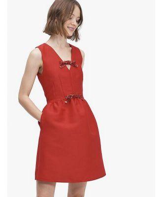 sequin-bow mikado dress