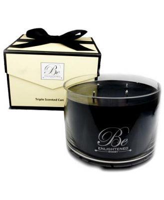 Be Enlightened Triple Scented Luxury Candle Oriental Baies