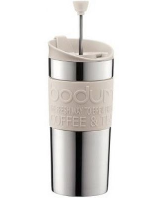 Bodum Stainless Steel Travel Press Set 350ml Off White with extra lid