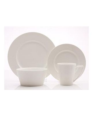 Casa Domani Evolve Casual White Dinner Set 16 Piece Gift Boxed