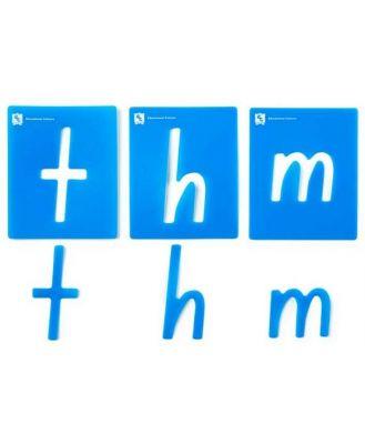 Alphabet Lowercase Stencils Pkt 26 (NSW&ACT)