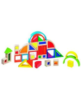 Goki Rainbow Building Blocks with Windows