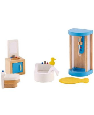 Hape All Seasons Dollhouse Family Bathroom