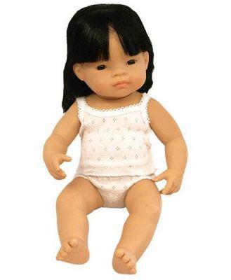 Miniland Asian Baby Girl Doll