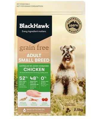 Black Hawk Grain Free Chicken Dry Dog Food for Small Breeds 2.5kg