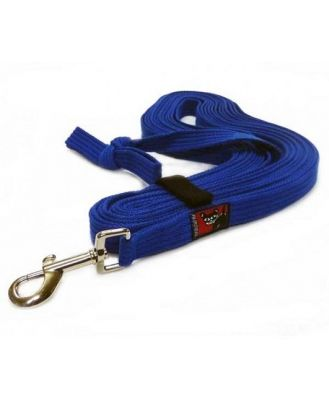 Black Dog Tracking Lead for Recall Training - 11 meters - Regular Width - Blue