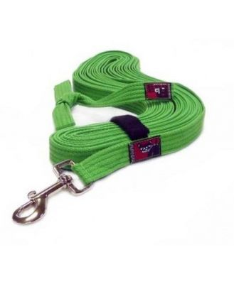 Black Dog Tracking Lead for Recall Training - 11 meters - Regular Width- Green