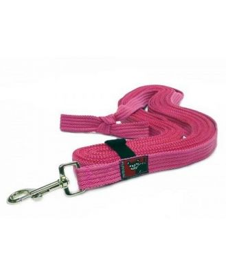 Black Dog Tracking Lead for Recall Training - 11 meters - Regular Width - Pink