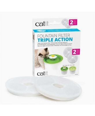 Catit 2.0 Triple-Action Carbon Filters for Catit Flower Fountain - 2 pack