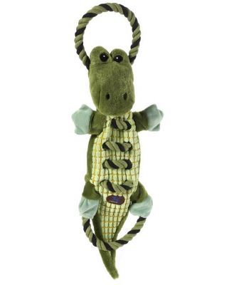 Charming Pet Ropes A-Go-Go Textured Dog Toy with K9 Tough Guard - Jungle Gator