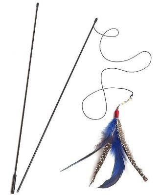 Go Cat Da Bird Pull-Apart Wand Cat Feather Teaser
