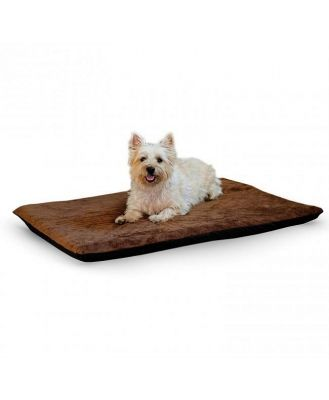 K&H Orthopedic Dual-Thermostat Low-Voltage Heated Pet Bed - Cream-
