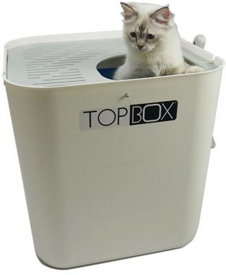 SmartCat The Ultimate Topbox Cat Litter tray with scoop - White