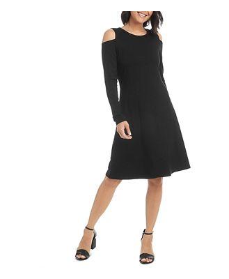 Karen Kane Cold-Shoulder A-Line Dress