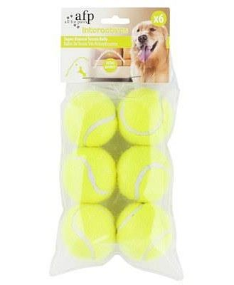 All For Paws (afp) Dog Toy Hyper Fetch Mini Super Bounce Tennis Balls 6 Pack