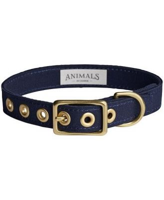 Animals In Charge Navy + Brass All Weather Collar: